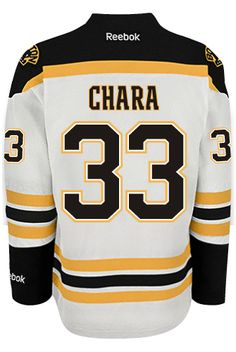51fa9ba9419 Boston Bruins Zdeno CHARA #33 *C* Official Away Reebok Premier Replica  Adult NHL CoolHockey