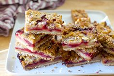 Plum Squares with Marzipan Crumble