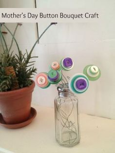 Mother's Day Craft for Kids: Make Your Own Beautiful Button Bouquet!
