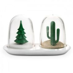 "Salero y Pimentero ""Invierno & Verano"" / ""Winter and Summer"" Salt & Pepper shaker Set · Tienda de Decoración y Regalos originales UniversOriginal"