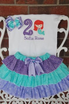 Little Mermaid Birthday Outfit by RuffleDarlings on Etsy