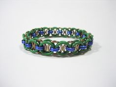 TMNT Themed Stretchy Chainmaille Bracelet (Donatello) - Helm (Parallel) Chain Weave by Sneath on Etsy