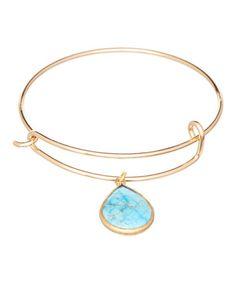 Turquoise Small Bezel Wire Bracelet