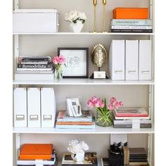 """@theinteriorqueen's photo: """"Bookshelf styling to get you through the afternoon """""""