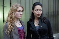 Still of Skyler Samuels and Alyssa Diaz in The Nine Lives of Chloe King