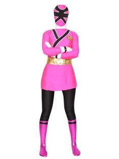 Pink Shinkenger Power Rangers Superhero Costume