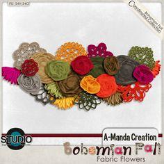 Bohemian Fall Fabric Flowers