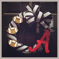 Alabama Football Wreath!