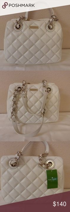 Kate Spade Gold Coast Clotted Cream Brand new with tags. Never worn and undamaged. Ivory color. kate spade Bags Shoulder Bags