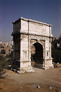Arco de Titus, conmemorando la captura de Jerusalén en el año 70 dC, Roma, Lazio, Italia, Europa