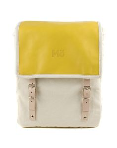 Yellow Globby Leather Backpack via Mö Heap. Click on the image to see more!