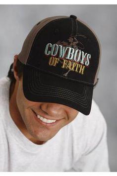 Men s Black Caps Cowboy s Of Faith Baseball Cap b0076d029d3