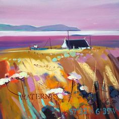 Love Pam Carter's paintings of Scotland.