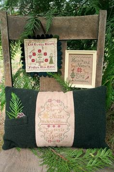 christmas samplers - I especially love the pillow finish!