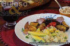 Aprenda a preparar um Couscous Marroquino com Manga de dar água na boca! E o bacana é que é simples, rápido, prático e requintado!   #Receita aqui: http://www.gulosoesaudavel.com.br/2015/05/27/couscous-marroquino-manga/