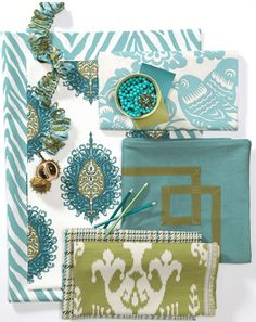 calico corners + turquoise and green