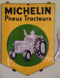 Porcelain enamel Michelin sign
