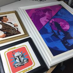 Off to the gallery for Ferris and RDJ. As for Mr. Fett he's going to stay with me!  @hellobreese #schmandrewart #illustration #artshow #framedart #digitalart #traditionalart #peterbreese #80s #adobephotoshopcc #wacom