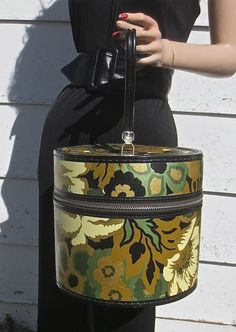 Mod Vintage 1960's1970's Hat BoxTrain by delilahsdeluxe on Etsy, $23.50