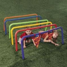 Cute idea. But make it with PVC and paint for cheaper! Would be really cute to add to a kid's backyard playspace. KIDS OUTDOORS FLAG RACE – CRAWL UNDER THE BARS!