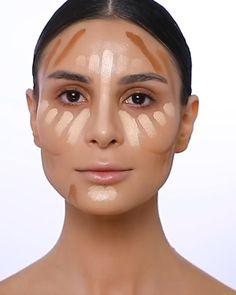 Makeup Tutorial Eyeliner, Makeup Looks Tutorial, Contour Makeup, Eyebrow Makeup, Edgy Makeup, Skin Makeup, Contouring Makeup Tutorials, Contouring And Highlighting, Makeup Tutorials