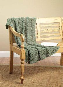 Crochet One Skein Throw LW1570 | Purple Kitty