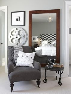 Color scheme and furniture style Stylish Ways to Decorate With Mirrors in the Bedroom | Home Remodeling - Ideas for Basements, Home Theaters & More | HGTV