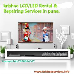 #LCD/LED,#TV Hire In Pune. *In the event that you are searching for the most recent in #LCD #TV screens for #Rental or contract, then we can offer assistance. Would you like to emerge from the group, be the jealousy of your companions?  *Why not consider vast level screen #LCD #TV #Rentals? We have a scope of LCD TV rental choices that suit various events.  *Inbuilt HD Tuner.  *New stock accessible.  *Perfect for Room. visit:www.krishnaservices.info Contact No:7038854547