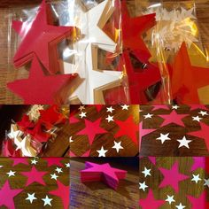 Star cut outs (Variety of Colors and Sizes Available)