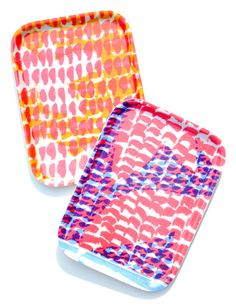 Printed Breakfast Tray A colorful, abstract print sets the scene for a cheerful breakfast. This vibrant tray from textile designer Jonna Saarinen is the perfect size for a light meal, accommodating a small plate or bowl plus a mug or glass. Surface Design, Breakfast Tray, Textiles, Decoration Table, Color Inspiration, Home Accessories, Home Goods, Sweet Home, Cool Stuff