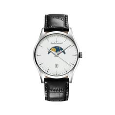 Sophisticated Classics Claude Bernard 79010 3 BIN Men's Watch Moonphase Classic White Dial With Black Leather Strap. Free US Shipping. MAKE AN OFFER!