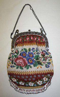 1830-1840, France - Metal bag