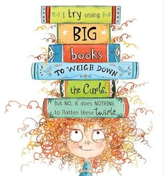 Illustration from my picture book I DON'T WANT CURLY HAIR! Have you ever tried anything crazy to straighten your curls? Children's Book Illustration, Character Illustration, Cute Cartoon Wallpapers, Conte, Art Plastique, Cartoon Art, Cute Art, Childrens Books, Illustrators