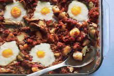 Find the recipe for Eggs in Purgatory with Artichoke Hearts, Potatoes and Capers and other artichoke recipes at Epicurious.com