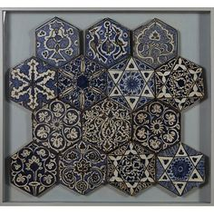 Tile, Damascus, Syria.  1420-1450 artist unknown.  From the collection of the Victoria and Albert Museum.  You should look at their Islamic tiles they are so beautiful.