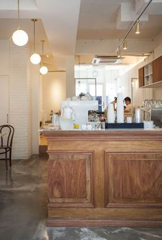 Cafe Interior Design, Cafe Design, Loft Cafe, Store Counter, White Cafe, Best Insulation, Wooden Shutters, Selling Design, Cafe Style