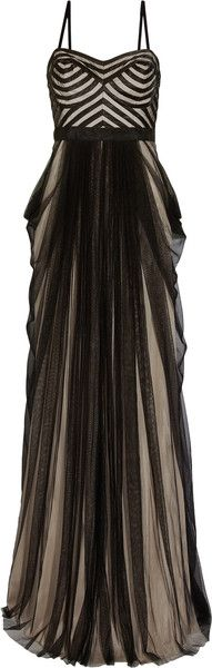 Thurley Twilight Satin and Tulle Gown in Black