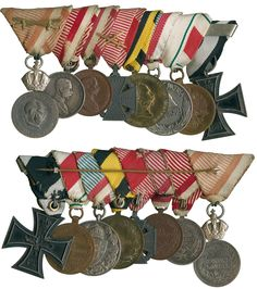 Bid Live on Lot 281 in the The Military Sale 5 Auction from Baldwin's. Ww1 History, Military Decorations, War Medals, Service Medals, Military Insignia, Austro Hungarian, World War I, Wwi, Troops