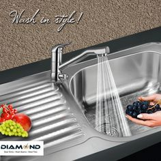 Contemporary ‪kitchen sinks‬ that will suit your ‪kitchen‬ & style perfectly! Explore the complete range @ www.diamondsink.in #SteelSink #SteelKitchenSink #StylishSinks #DiamondSink #Sink #KitchenSinks #Kitchen
