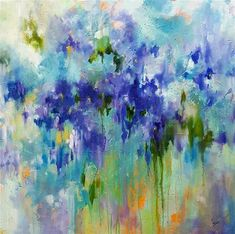 "Daily+Paintworks+-+""Melting+Iris""+-+Original+Fine+Art+for+Sale+-+©+Sue+Dion"