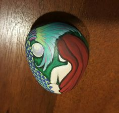 Painted Rock Mermaid and the Pearl by StoniesbyHeidi on Etsy