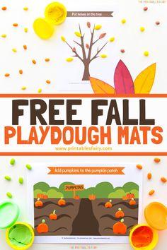Leaf Printables, Free Printables, Fall Preschool Activities, Toddler Activities, Make Your Own Playdough, Sensory Games, Autumn Theme, Motor Skills, Fine Motor