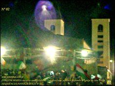 """#MEDJUGORJE - [#MAIS 02 (DUAS) FOTOS INÉDITAS CAPTURADAS defronte a Igreja de São Tiago, em que a 'RAINHA DA PAZ' #APARECE envolta num Globo de Luz Azulado'""""]- Belíssimas. . #SEQUÊNCIA_FOTOGRÁFICA Nº 01 e Nº 02."""