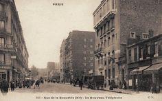 """#photo Le """"nouveau téléphone"""" de la rue de la Roquette vers 1900 #Paris11 #PEAV @Menilmuche @ParisHistorique"""