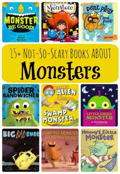15 Not-So-Scary Books About Monsters. Great Halloween book list for preschool, kindergarten and more.
