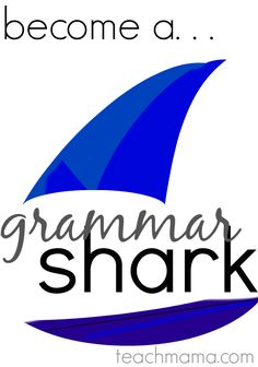 turn your kids into grammar sharks: national grammar day | free printable with 20+ common grammar mistakes #weteach