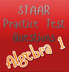 This free practice test provides high school students with a few sample questions that can be found on the STAAR Algebra 1 exam. These free STAAR practice tests help prepare high school students for the actual STAAR exam! High School Algebra, Algebra 1, 9th Grade Math, Math Homework Help, Maths Exam, Math Courses, Math Questions, Funny Math, Math Jokes