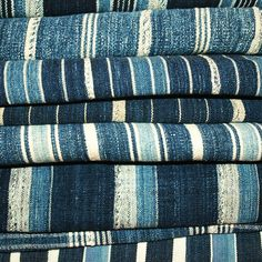 African Indigo Stripes
