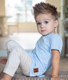 Image may contain: 1 person, sitting baby toddler boy haircuts, baby boy . Toddler Boy Haircuts, Little Boy Haircuts, Toddler Boys, Teen Boys, Baby Boy Haircut Styles, Little Boy Mohawk, Little Boy Outfits, Baby Boy Outfits, Cute Kids Outfits