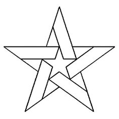 Quilting Creations Five Pointed Star Quilt Stencil 5